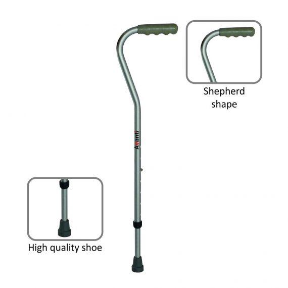 Vissco avanti shepherd shape single stick.1