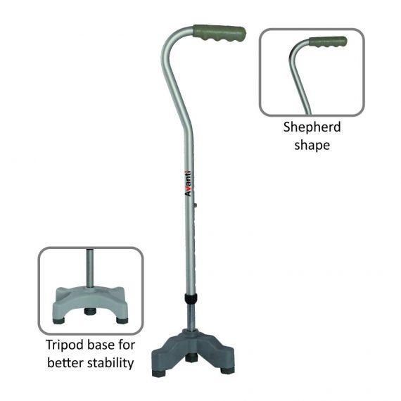 Vissco avanti shepherd shape tripod stick.1