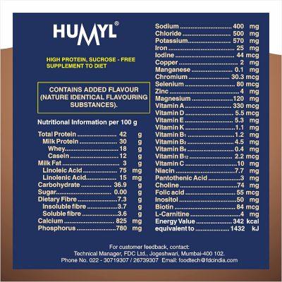 humyl powder content